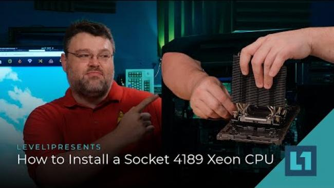 Embedded thumbnail for How to Install a Socket 4189 Xeon CPU