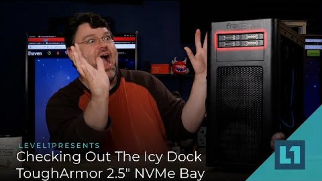 "Embedded thumbnail for Checking Out The Icy Dock ToughArmor 2.5"" NVMe Bay"