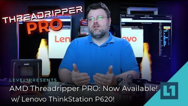 Embedded thumbnail for AMD Threadripper PRO: Now Available w/ Lenovo ThinkStation P620!