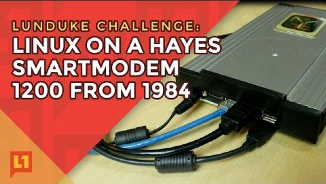 Embedded thumbnail for A baudy Linux Hack: Hayes Modem modded to Linux Desktop (and modem time machine).