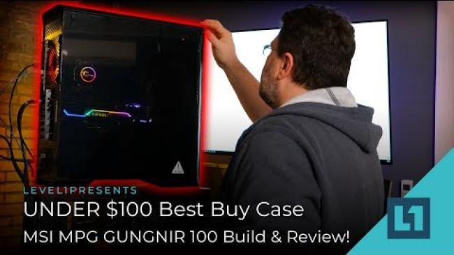 Embedded thumbnail for UNDER $100 Best Buy Case - MSI MPG GUNGNIR 100 Build & Review!