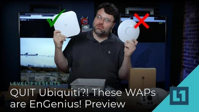Embedded thumbnail for QUIT Ubiquiti?! These WAPs are EnGenius! - Part 2