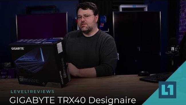 Embedded thumbnail for GIGABYTE TRX40 Designaire & Thunderbolt Tested