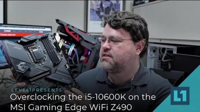 Embedded thumbnail for Overclocking the i5-10600K on the MSI Gaming Edge WiFi Z490