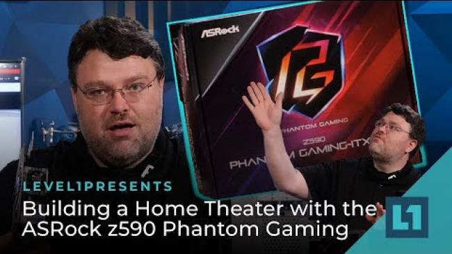 Embedded thumbnail for Home Theater Build with the ASRock z590 Phantom Gaming