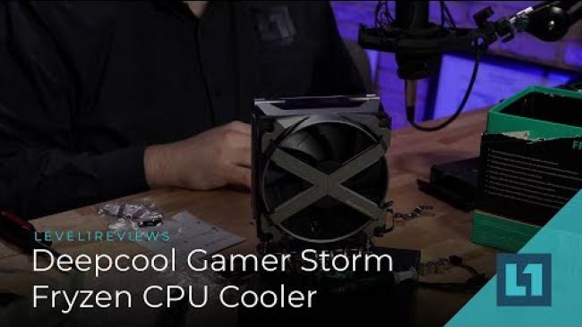 Embedded thumbnail for Deepcool Fryzen Gamer Storm CPU Cooler Review