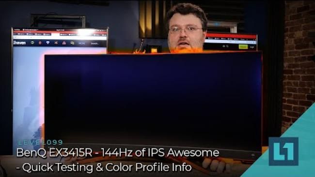 Embedded thumbnail for BenQ EX3415R - 144Hz of IPS Awesome - Quick Testing & Color Profile Info