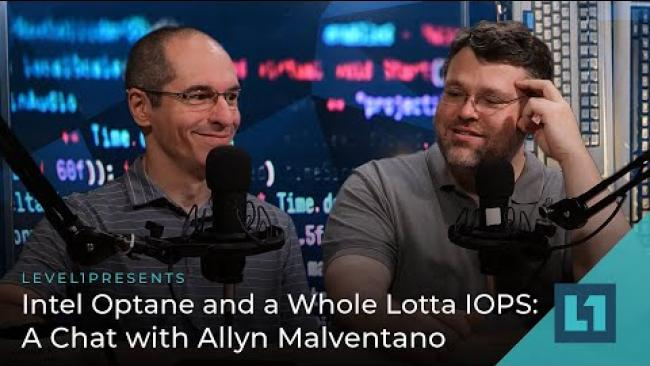 Embedded thumbnail for Intel Optane and a Whole lotta IOPS: A Chat with Allyn Malventano