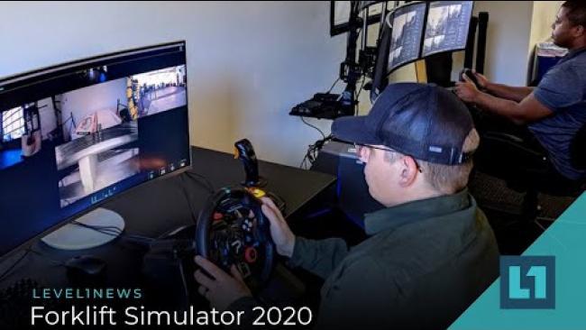 Embedded thumbnail for Level1 News October 30 2020: Forklift Simulator 2020