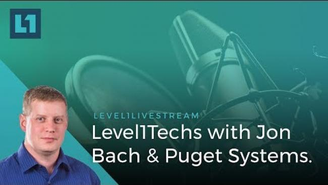 Embedded thumbnail for LIVE: Level1Techs with Jon Bach of Puget Systems!