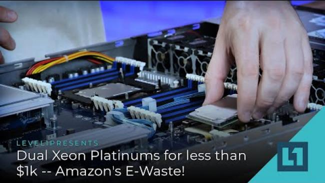 Embedded thumbnail for Dual Xeon Platinums - For Less Than $1K! Amazon's E-Waste!