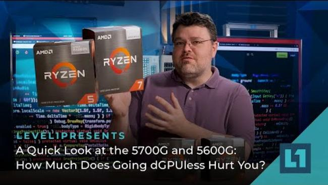 Embedded thumbnail for A Quick Look at the 5700G and 5600G: How Much Does Going dGPUless Hurt You?