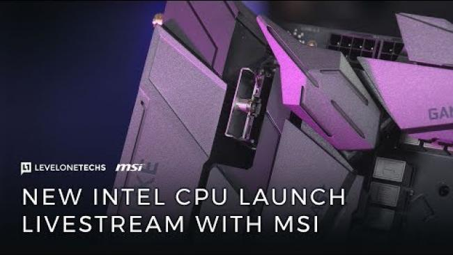 Embedded thumbnail for i7 8700k / i5 8600k Hands On Live Stream w/Level1 and MSI