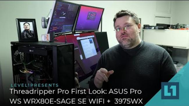 Embedded thumbnail for Threadripper Pro: First Look at the ASUS Pro WS WRX80E-SAGE SE WIFI + 32 Core TR Pro 3975WX