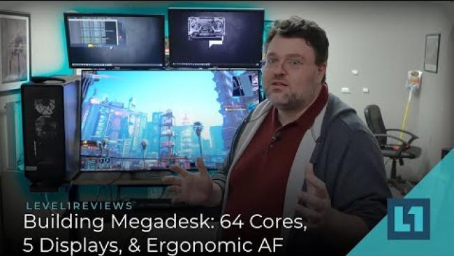 Embedded thumbnail for Building Megadesk: 64 Cores, 5 Displays, & Ergonomic AF