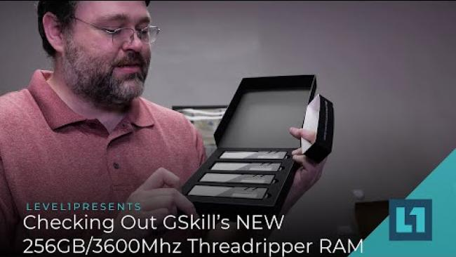 Embedded thumbnail for Checking Out GSkill's NEW 256GB/3600Mhz Threadripper RAM