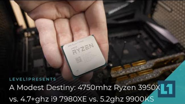 Embedded thumbnail for 4750mhz Ryzen 9 3950X vs 5.2ghz 9900ks vs 4.7+ghz 7980XE : A Modest Destiny? :D