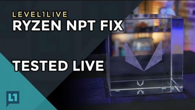 Embedded thumbnail for Livestream: Fix for Ryzen NPT Applied & Tested