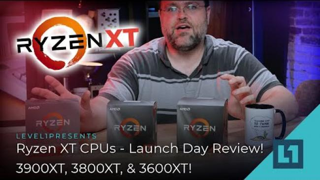 Embedded thumbnail for Ryzen XT CPUs - Launch Day Review! 3900XT, 3800XT, & 3600XT!