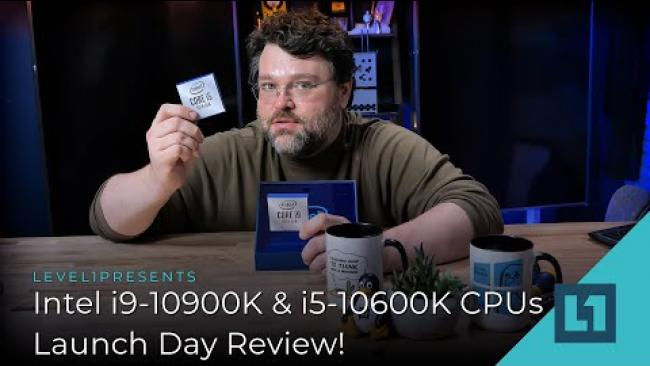 Embedded thumbnail for Intel i9-10900K & i5-10600K CPU Launch today, how are they?