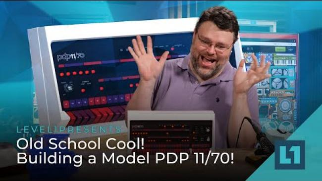 Embedded thumbnail for Old School Cool! Building a Model PDP 11/70!