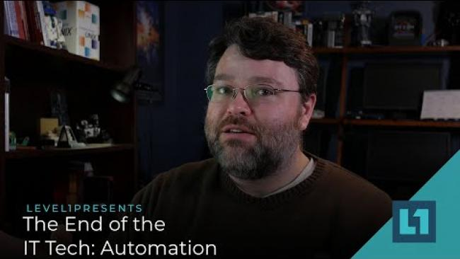 Embedded thumbnail for The End of the IT Tech: Automation