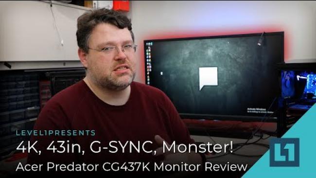 Embedded thumbnail for 4K, 43in, G-SYNC, Monster! - Acer Predator CG437K Monitor Review