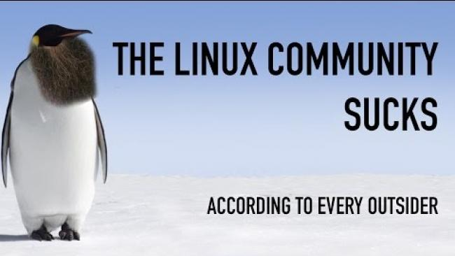 Embedded thumbnail for The Linux Community Sucks: According to Almost Every Outsider