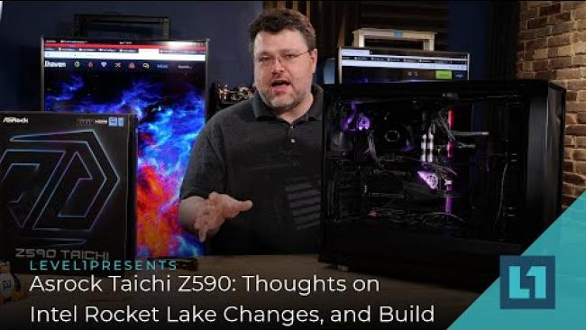 Embedded thumbnail for ASRock Taichi Z590 - Thoughts on Intel Rocket Lake Changes, and Build