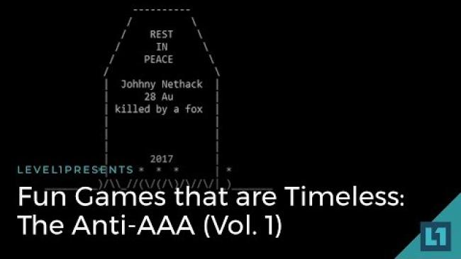 Embedded thumbnail for Fun Games that are Timeless: The Anti-AAA (Vol. 1)