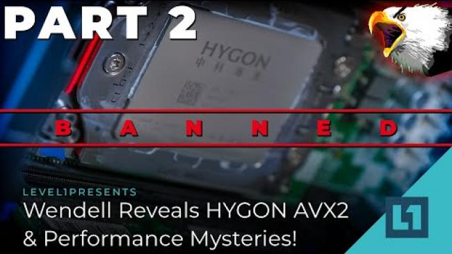 Embedded thumbnail for Wendell Reveals HYGON AVX2 & Performance Mysteries! (Poking At Chinese Servers Pt. 2)