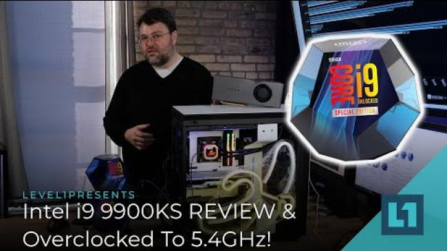 Embedded thumbnail for INTEL i9 9900KS Release! REVIEW & OVERCLOCK to 5.4 GHz!