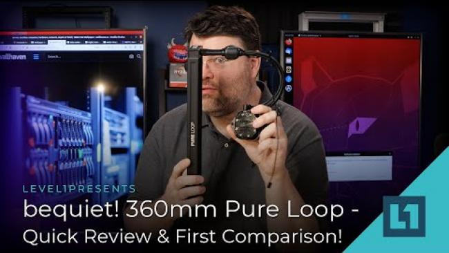 Embedded thumbnail for bequiet! 360mm Pure Loop AIO - Quick Review & First Comparison