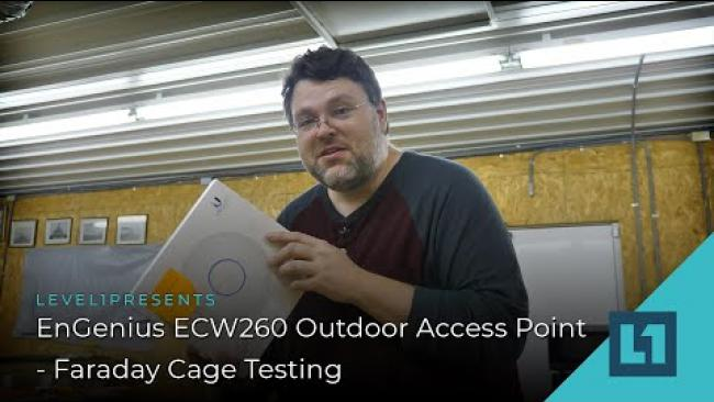 Embedded thumbnail for EnGenius ECW260 Outdoor Access Point - Faraday Cage Testing