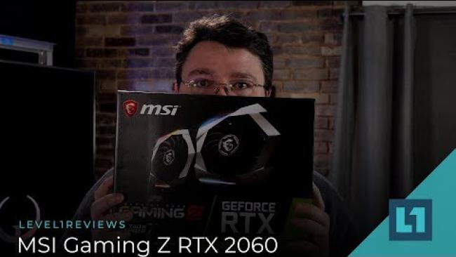 Embedded thumbnail for MSI Gaming Z RTX 2060 Review + Benchmarks!