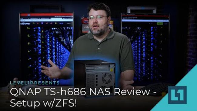 Embedded thumbnail for QNAP TS-h686 NAS Review - Setup w/ZFS!
