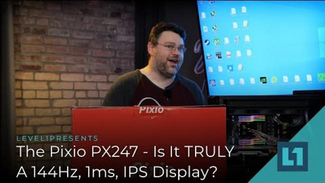 Embedded thumbnail for The Pixio PX247 - Is It TRULY A 144Hz, 1ms, IPS Display?
