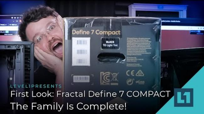 Embedded thumbnail for First Look: Fractal Define 7 COMPACT - The Family Is Complete!