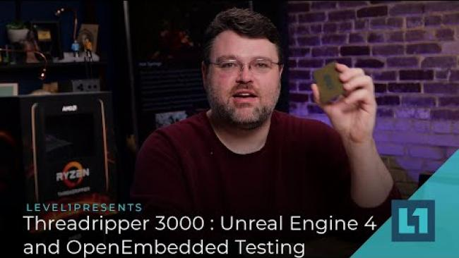 Embedded thumbnail for Threadripper 3000 : Unreal Engine 4 and OpenEmbedded Testing 3990X