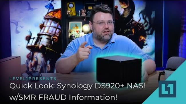 Embedded thumbnail for Quick Look: Synology DS920+ NAS! w/SMR FRAUD Information!