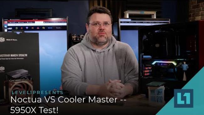 Embedded thumbnail for Noctua VS Cooler Master -- 5950X Test!