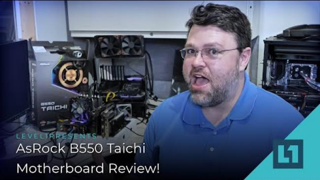 Embedded thumbnail for AsRock B550 Taichi Motherboard Review!