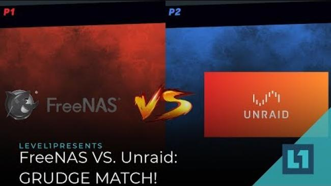 Embedded thumbnail for FreeNAS vs. Unraid: GRUDGE MATCH!