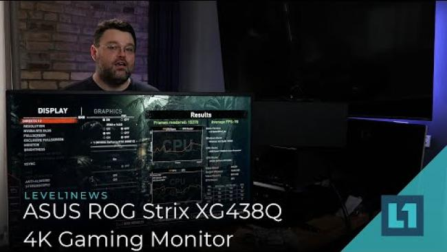 "Embedded thumbnail for ROG Strix XG438Q 43"" 120hz 4K Gaming Monitor Review!"