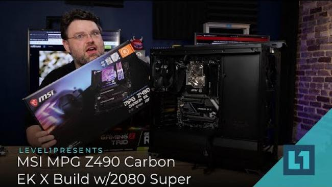 Embedded thumbnail for MSI MPG Z490 Carbon EK X Build w/2080 Super