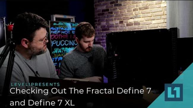 Embedded thumbnail for Checking Out The Fractal Define 7 and Define 7 XL