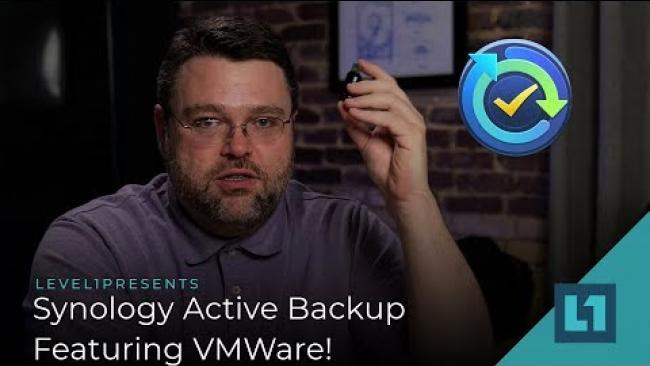Embedded thumbnail for Synology Active Backup: Free VMWare Backup And Restore!