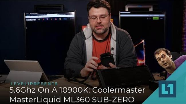 Embedded thumbnail for 5.6Ghz On The Intel 10900K: Checking Out The Coolermaster MasterLiquid ML360 SUB-ZERO