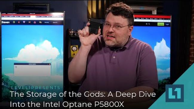 Embedded thumbnail for The Storage of the Gods: A Deep Dive Into the Intel Optane P5800X