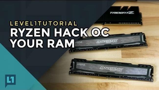 Embedded thumbnail for Maximize Ryzen: Overclock RAM for Faster Fabric Speed